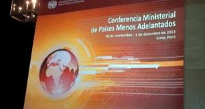 Desarrollo: Conferencia de Países Menos Adelantados 2013 en Lima