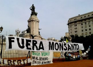 Acampe contra Monsanto en el Congreso