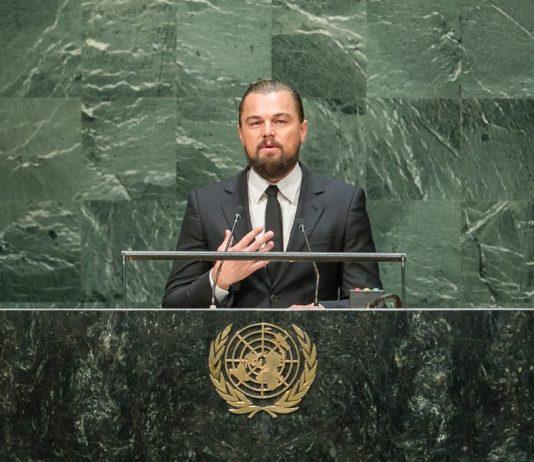 Discurso de Leonardo DiCaprio en la Ceremonia de Apertura de la Cumbre del Clima 2014 de la ONU. Crédito: UN Photo/Cia Pak.