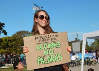 Marcha Cambio Climatico 2014 Buenos Aires. Planetario.