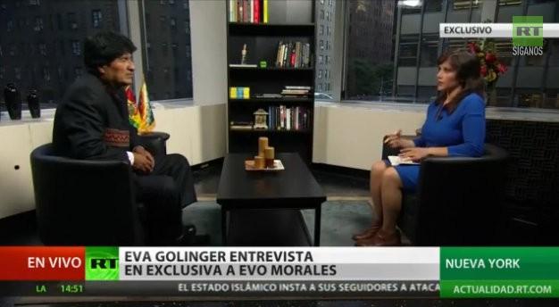 Entrevista a Evo Morales Eva Golinger RT 2014