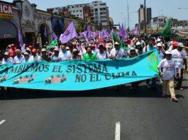 Marcha de los Pueblos por el Clima COP20 Lima