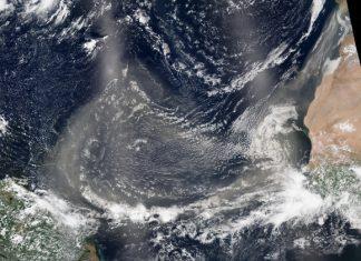 Foto NASA: arena del Sahara en América IDL TIFF file