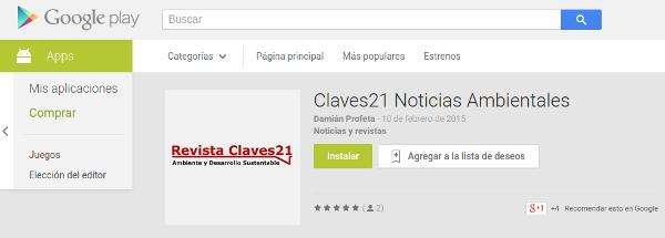 Descargar app de noticias ambientales claves21 para Android en Google Play