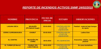 Incendios Forestales febrero 2015 Sistema Nacional de Manejo del Fuego