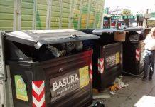 Contenedores de basura en la Ciudad de Buenos Aires