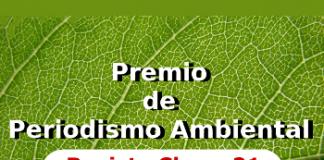 Premio de Periodismo Ambiental 2015 de la Revista Claves21 - Noticias Ambientales.