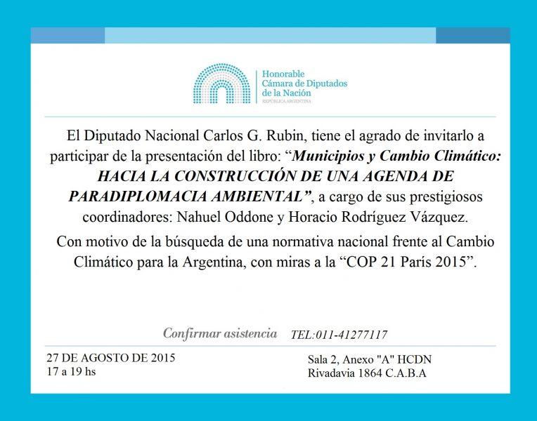 Libro Municipios y Cambio Climático. Nahuel Oddone.