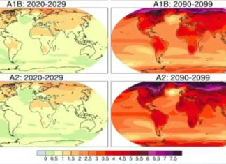 cambio climático mapa temperaturas