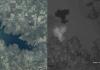"""Inundaciones en Myanmar. Créditos de las imágenes del """"antes"""": Google y CNES/Astrium. Crédito de las fotos del """"después"""": Google y DigitalGlobe."""
