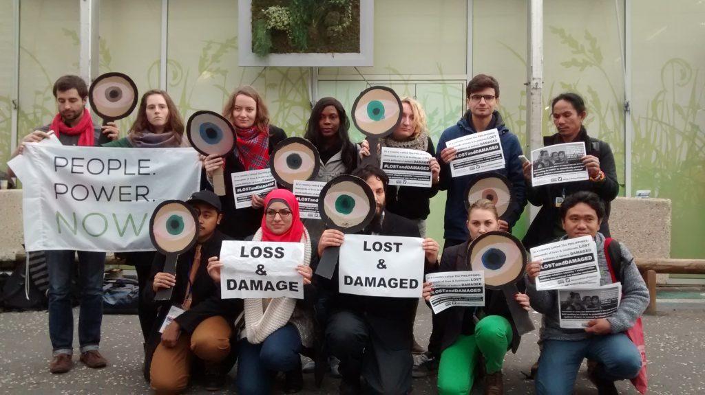 COP21: manifestación por justicia climática y un mecanismo de pérdidas y daños.