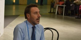 Juan Carlos Villalonga, el representante del gobierno de Macri en la COP21 sobre Cambio Climático de París. Foto: Damián Profeta.