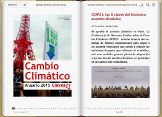 Ebook sobre cambio climático 2015 de Claves21 - Periodismo Ambienta.