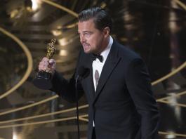 Leonardo DiCaprio ganó el Oscar como mejor actor por el film The Revenant (El renacido) y llamó a luchar contra el cambio climático.