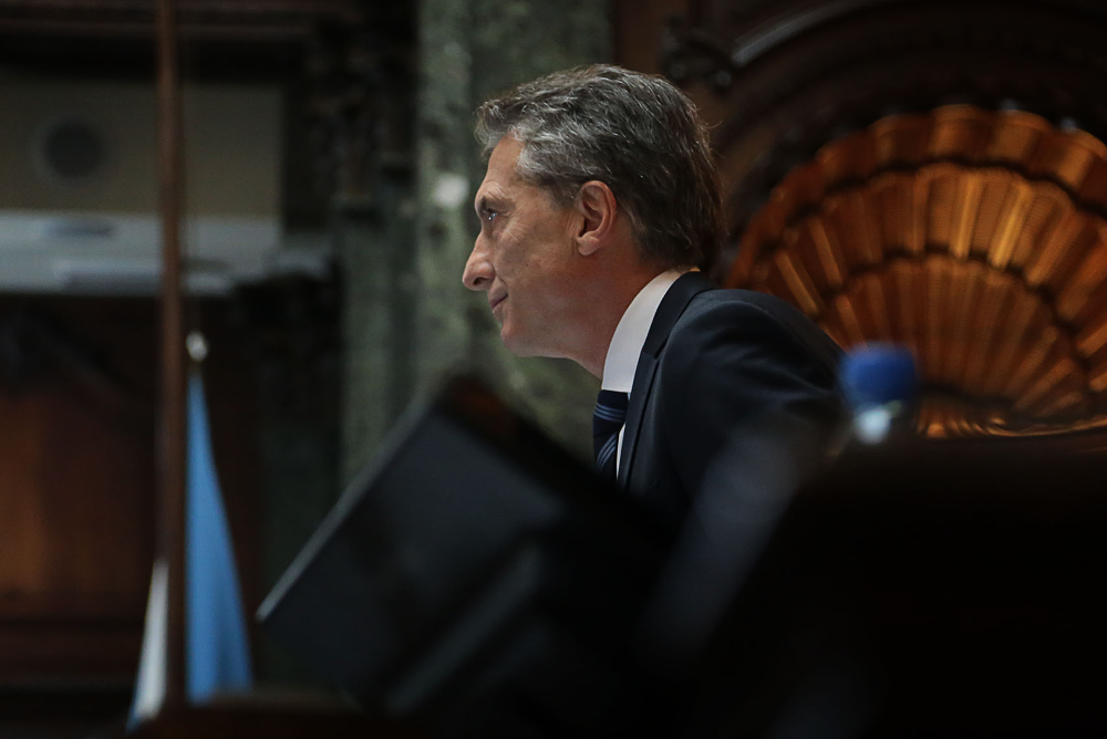 Mauricio Macri, en su discurso de apertura de las sesiones del Congreso mencionó al cambio climático y a las energías renovables. Foto: Flickr de Mauricio Macri. Licencia: CC BY-ND 2.0.