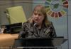 Discurso de Susana Malcorra (Argentina) en la ONU, tras la firma del Acuerdo de París. Foto: captura WebTV de ONU.
