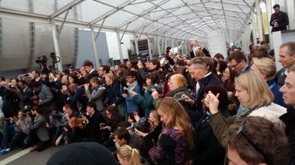 Periodistas en la COP21 de París. Diciembre de 2015. Foto: Damián Profeta. Licencia: CC BY-NC-SA.