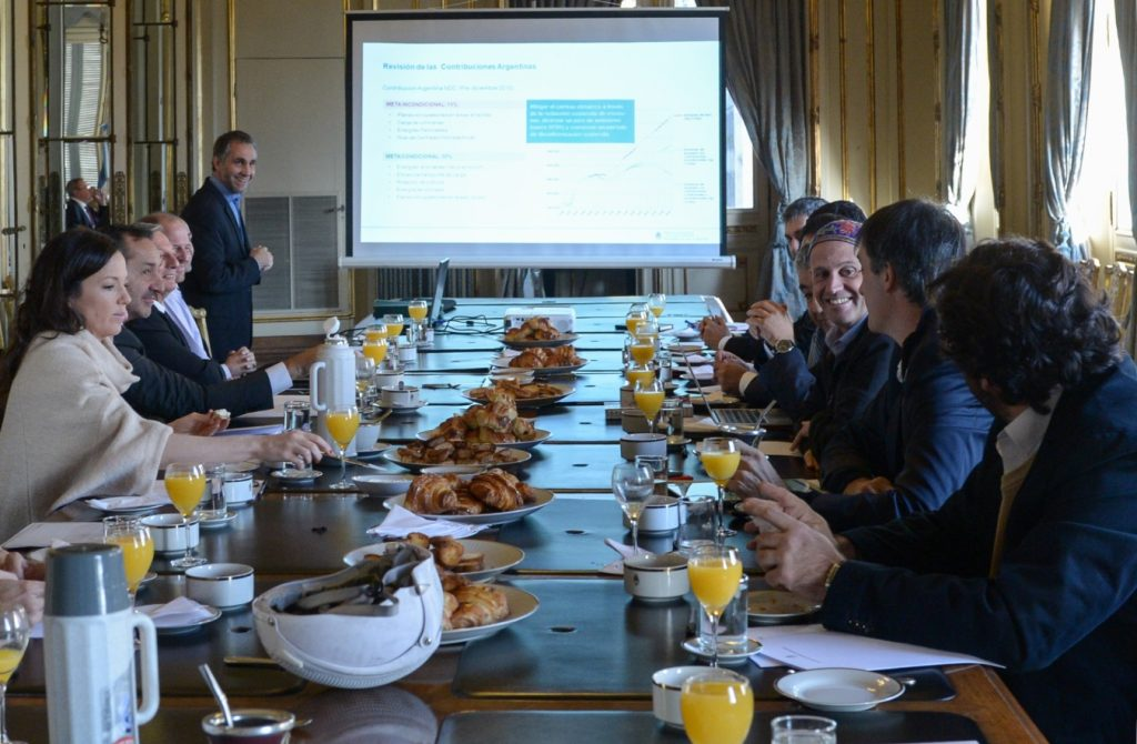 Foto de la reunión de la Comisión Nacional de Cambio Climático. Foto: Prensa del Ministerio de Ambiente y Desarrollo Sustentable.