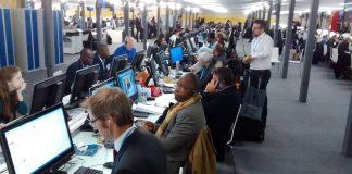 Periodistas en la COP21 sobre Cambio Climático. Foto: Damián Profeta. Licencia: CC BY-NC 2.0.