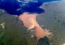 Foto satelital del Río de la Plata. Fuente: National Aeronautics and Space Administration (NASA).