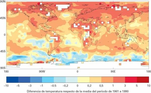 El estado del clima mundial: errático y cálido