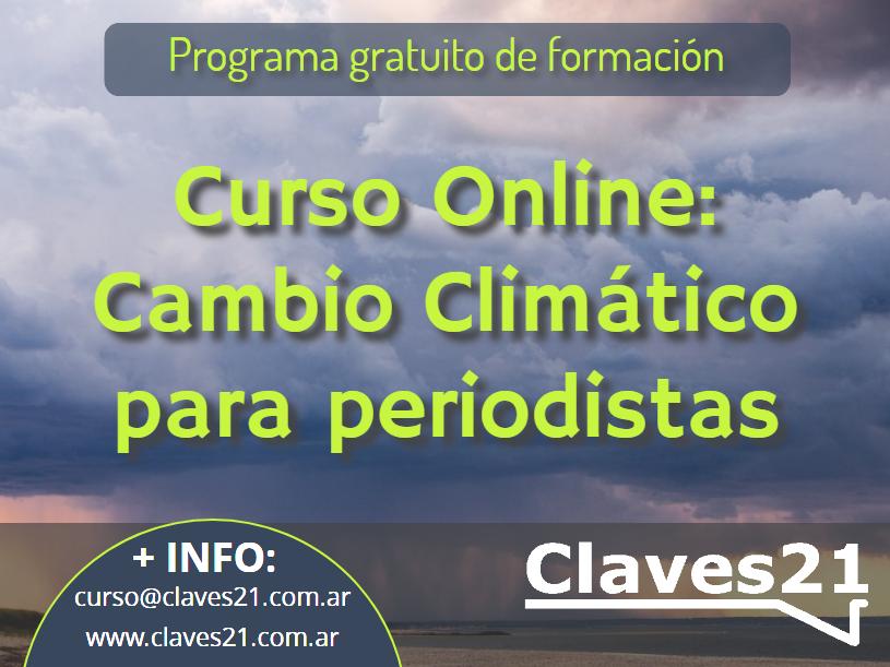 Claves21 organiza un nuevo curso para periodistas sobre cambio climático.