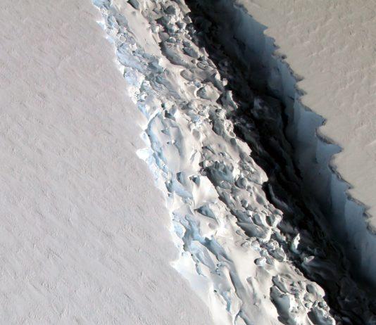 Desprendimiento del Iceberg en la Antártida.