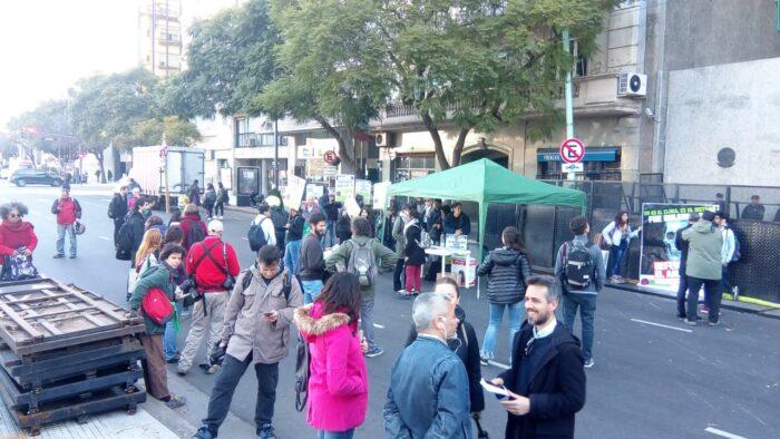 Manifestación en Buenos Aires en protesta por los incendios en la amazonia. Foto: Matías Profeta.