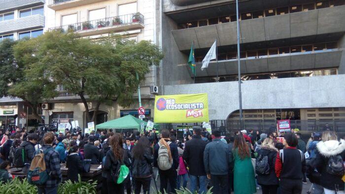 Manifestación en Buenos Aires en protesta por los incendios en la selva amazónica. Foto: Matías Profeta.