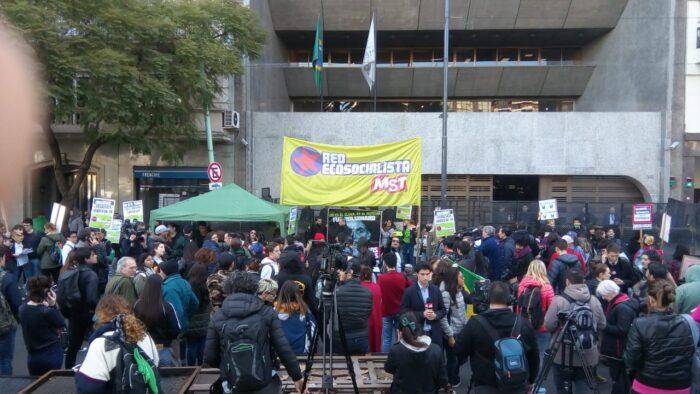 Manifestación en Buenos Aires en protesta por los incendios en la región amazónica. Foto: Matías Profeta.