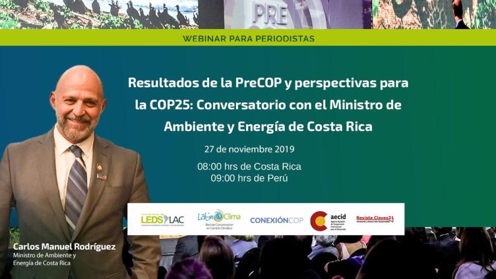 Carlos Manuel Rodríguez, ministro de Ambiente y Energía de Costa Rica