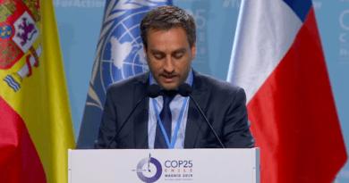 Cabandié en la COP25 de Cambio Climático en Madrid. Diciembre de 2019.