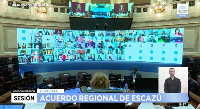 El Acuerdo de Escazú fue aprobado por el Senado de Argentina.